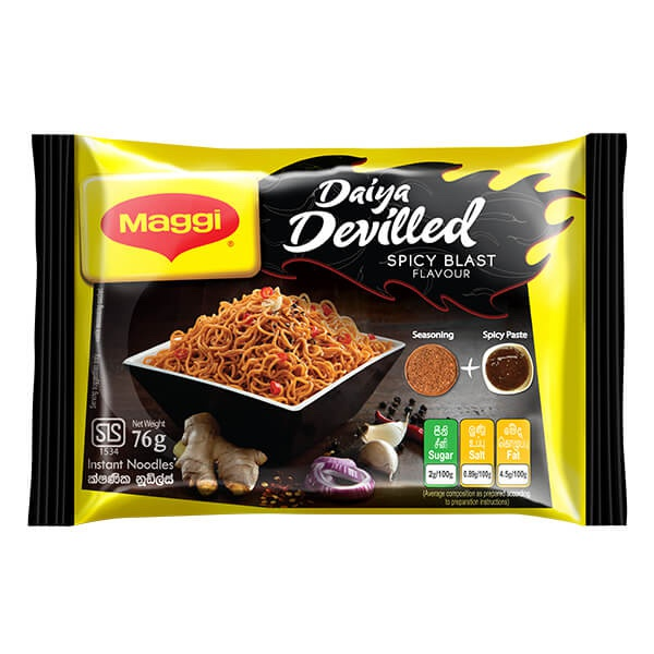 Maggi Noodles 2 Min. Devilled Spicy Blast 76g - in Sri Lanka