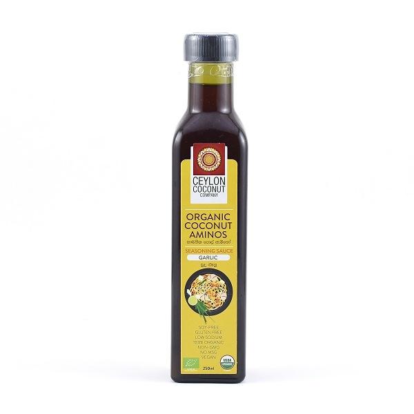 Ceylon Coconut Company Organic Coconut Aminos Garlic 250ml - in Sri Lanka
