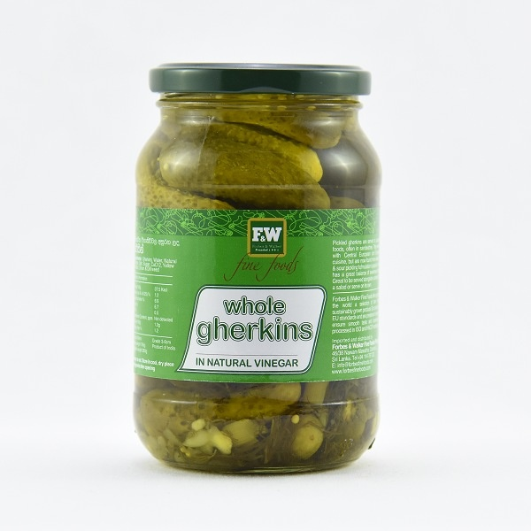 F&W Whole Gherkin In Vinegar 500G - in Sri Lanka