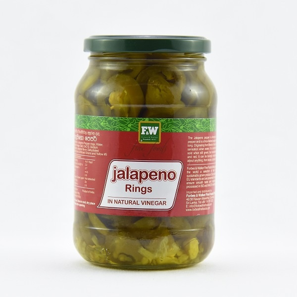 F&W Jalapeno Rings In Vinegar 500G - in Sri Lanka