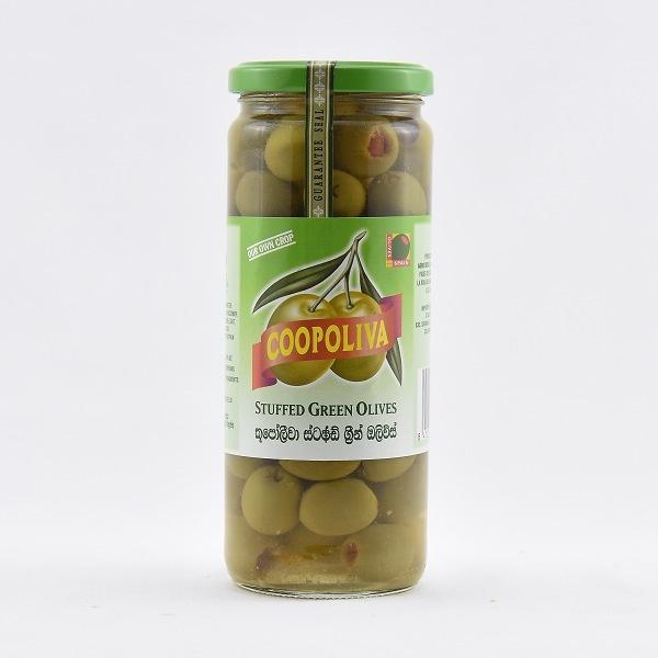 Coopoliva Stuffed Green Olives 450G - in Sri Lanka