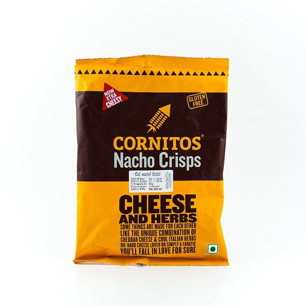 Cornitos Cheese & Herbs Nacho Crisps 60g - CORNITOS - Snacks - in Sri Lanka