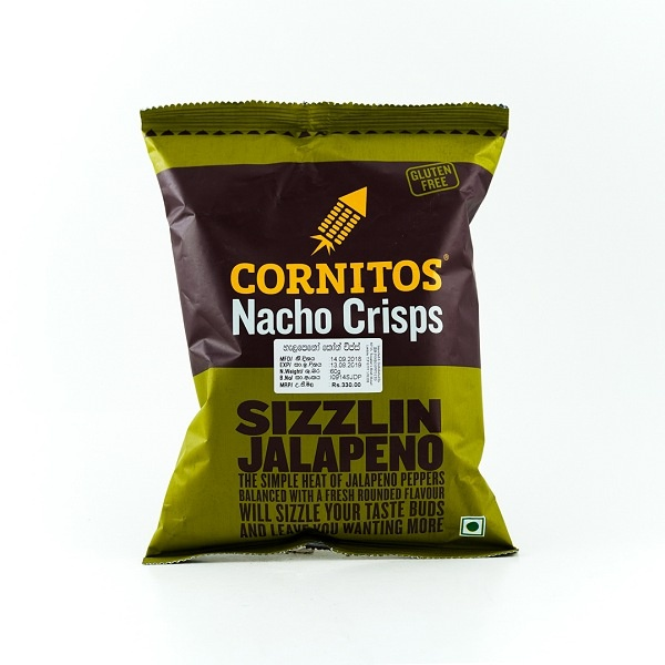 Cornitos Sizzlin Jalapeno Nacho Crisps 60g - CORNITOS - Snacks - in Sri Lanka