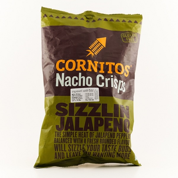 Cornitos Sizzlin Jalapeno Nacho Crisps 150g - in Sri Lanka