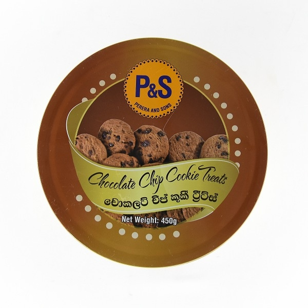 P&s Biscuit Choc Cookie Tin 450g - in Sri Lanka
