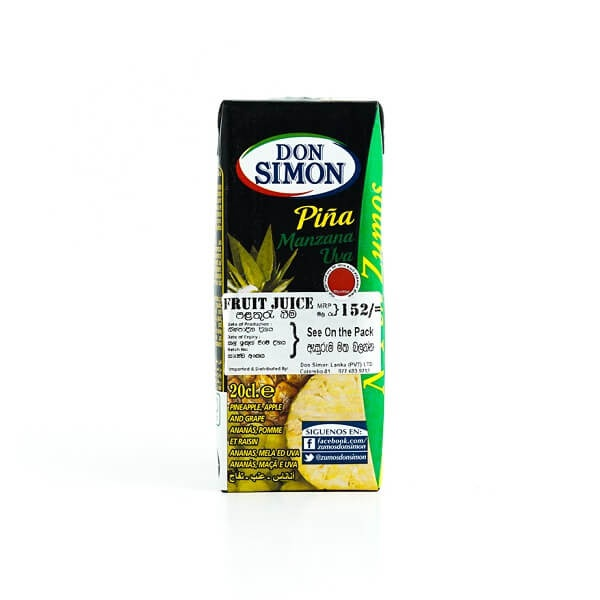 Don Simon Juice Pineapple 200Ml - in Sri Lanka