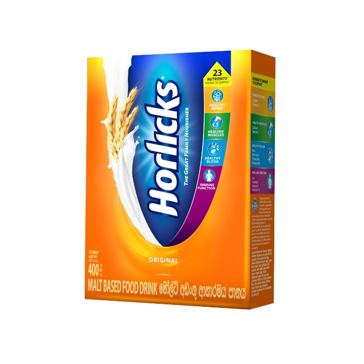 Horlicks Malted Food Drink Original Carton 400G - in Sri Lanka