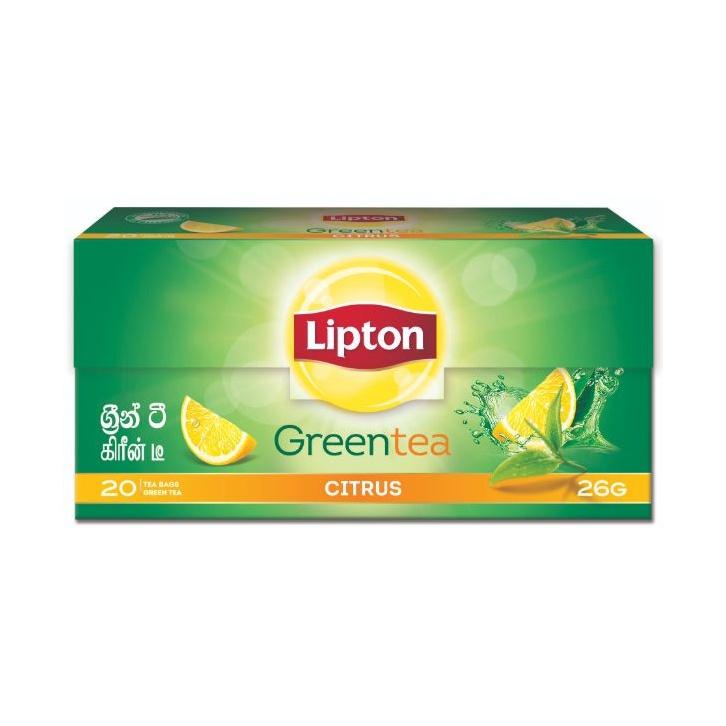 Lipton Citrus Green Tea Bag 26G - in Sri Lanka