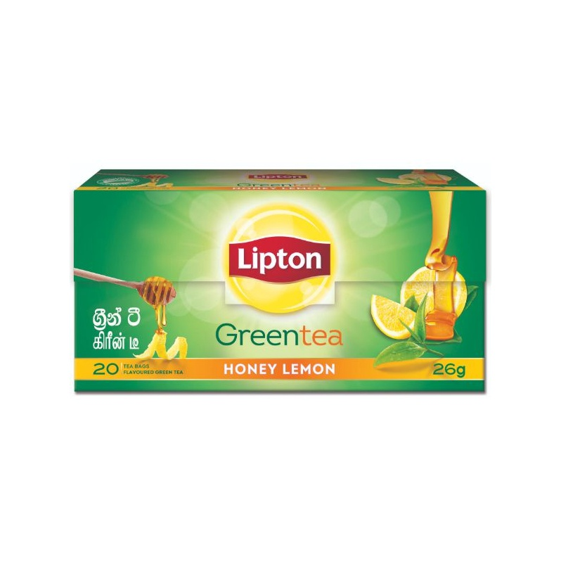 Lipton Honey & Lemon Green Tea Bag 26G - in Sri Lanka