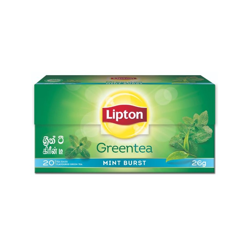Lipton Mint Green Tea Bag 26G - in Sri Lanka