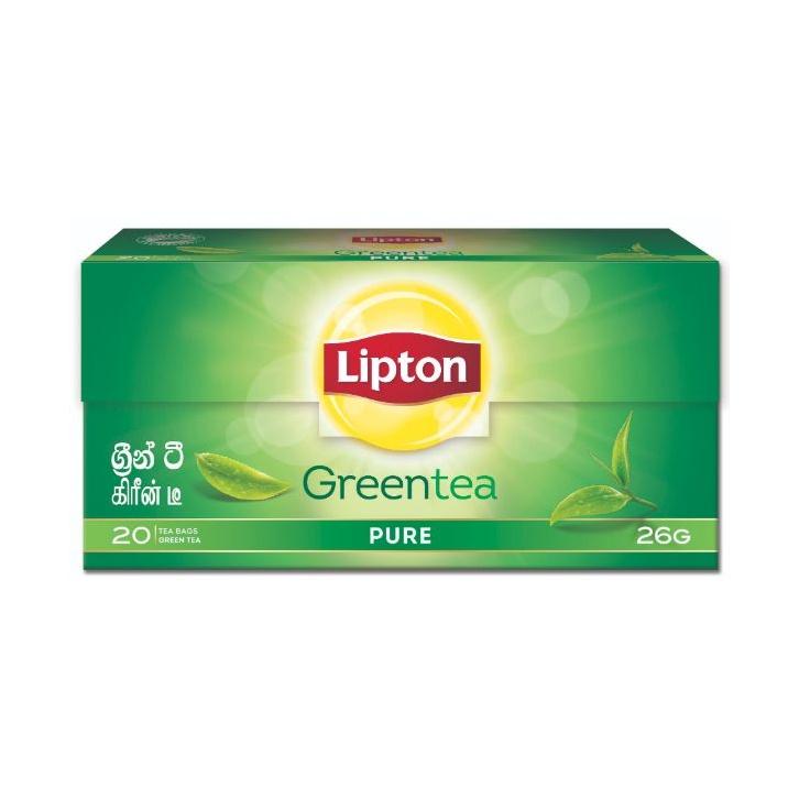 Lipton Pure Green Tea Bag 26G - in Sri Lanka