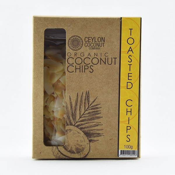 Ceylon Coconut Company Organic Coconut Chips Toasted 100g - in Sri Lanka