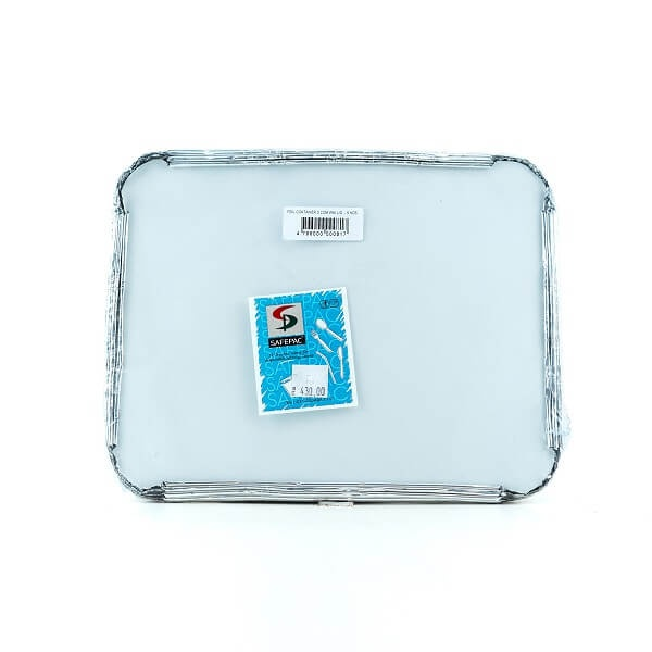 Safepac 3 Compartment Aluminium Container With Lid 5s - in Sri Lanka