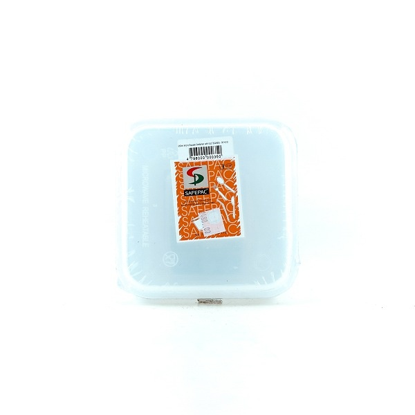 Safepac Square Pp Clear Container With Lid 650ml 5s - in Sri Lanka