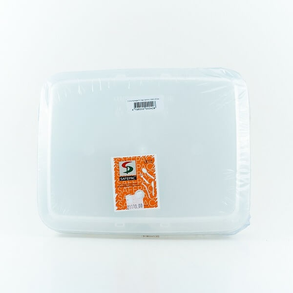 Safepac 1200-3 Comp. Rect. Pp Clear Container With Lid 5s - in Sri Lanka