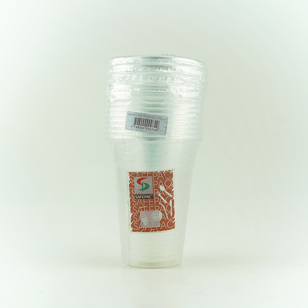 Safepac Pp Clear Cup With Lid 360ml 10s - in Sri Lanka