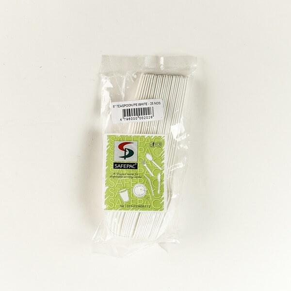 """Safepac 5"""" Teaspoon Ps White 25s - in Sri Lanka"""