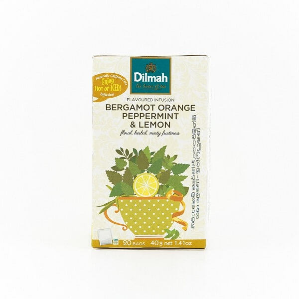 Dilmah Tea Bergamot Orange Peppermint & Lemon 20s 40g - in Sri Lanka
