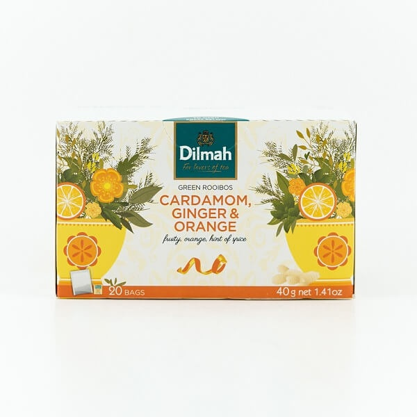 Dilmah Tea Green Rooibos Cardamom, Ginger & Orange 20s 40g - DILMAH - Tea - in Sri Lanka