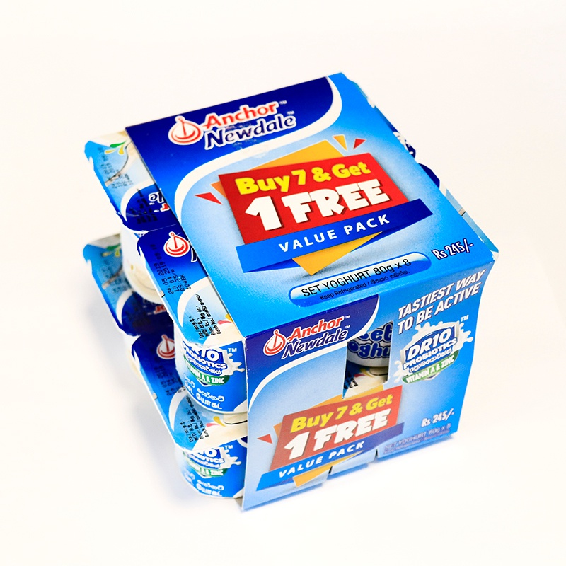 Newdale Set Yoghurt Banded 7+1 Pack - NEWDALE - Yogurt - in Sri Lanka