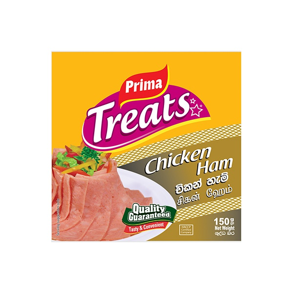 PRIMA SLICES CHICKEN HAM 150G - PRIMA - Processed / Preserved Meat - in Sri Lanka