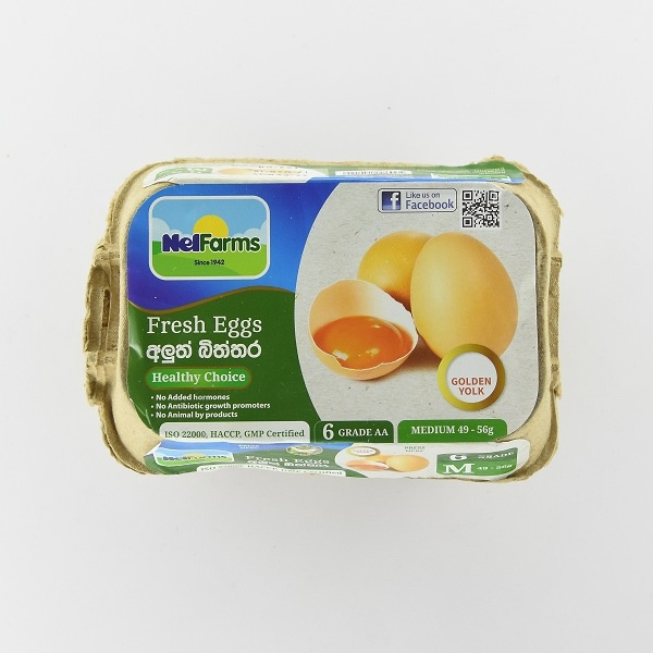 NEL FARM EGG MEDIUM 6S - in Sri Lanka