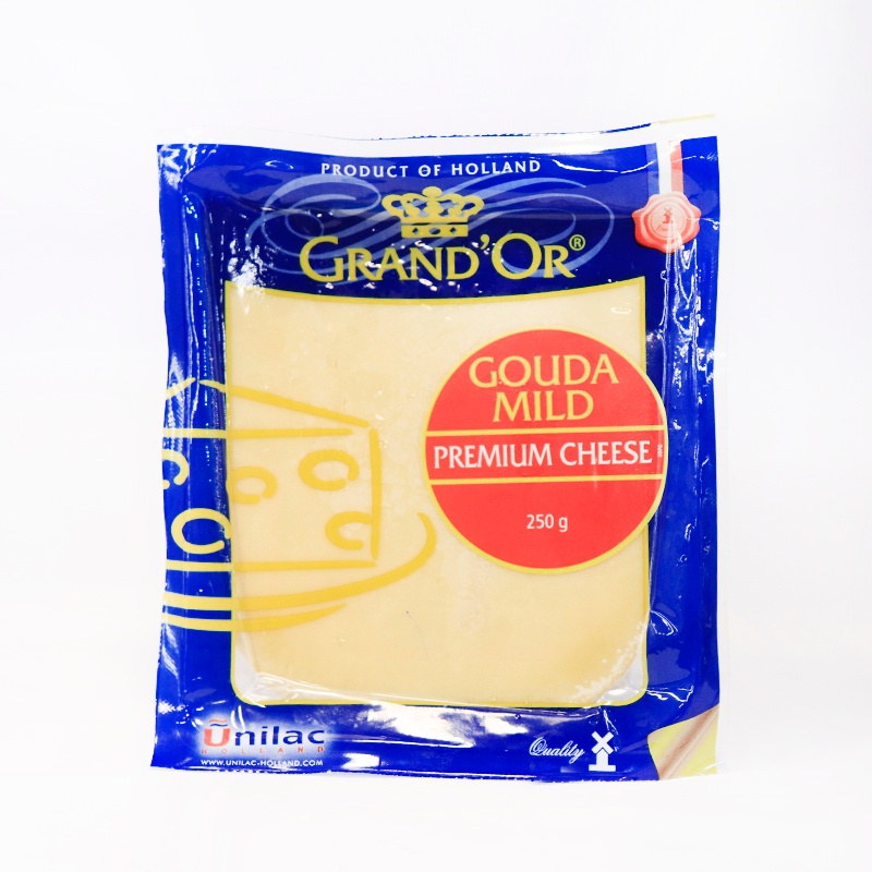 GRAND'OR CHEESE GOUDA WEDGE 250G - GLOMARK - Cheese - in Sri Lanka