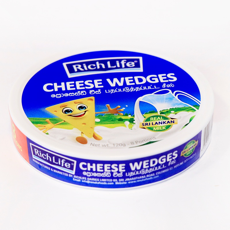 RICHLIFE CHEESE WEDGES 120G - GLOMARK - Cheese - in Sri Lanka