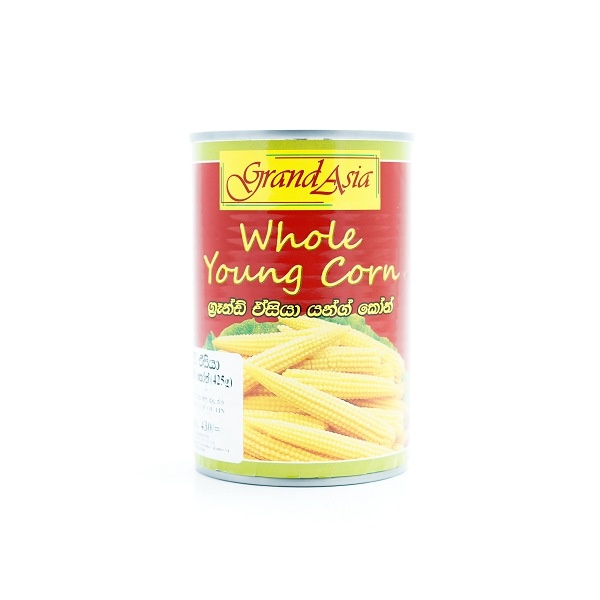 Grand Asia Whole Young Corn 425G - in Sri Lanka