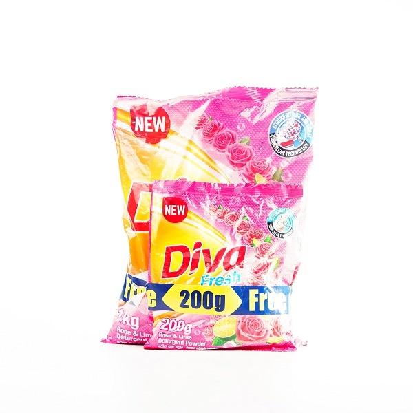 Diva Detergent Powder Rose & Lime 1Kg - in Sri Lanka