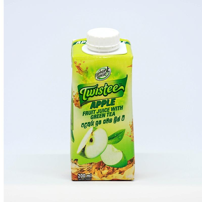 Elephant House Twistee Apple Fruit Juice With Green Tea 200ML - in Sri Lanka