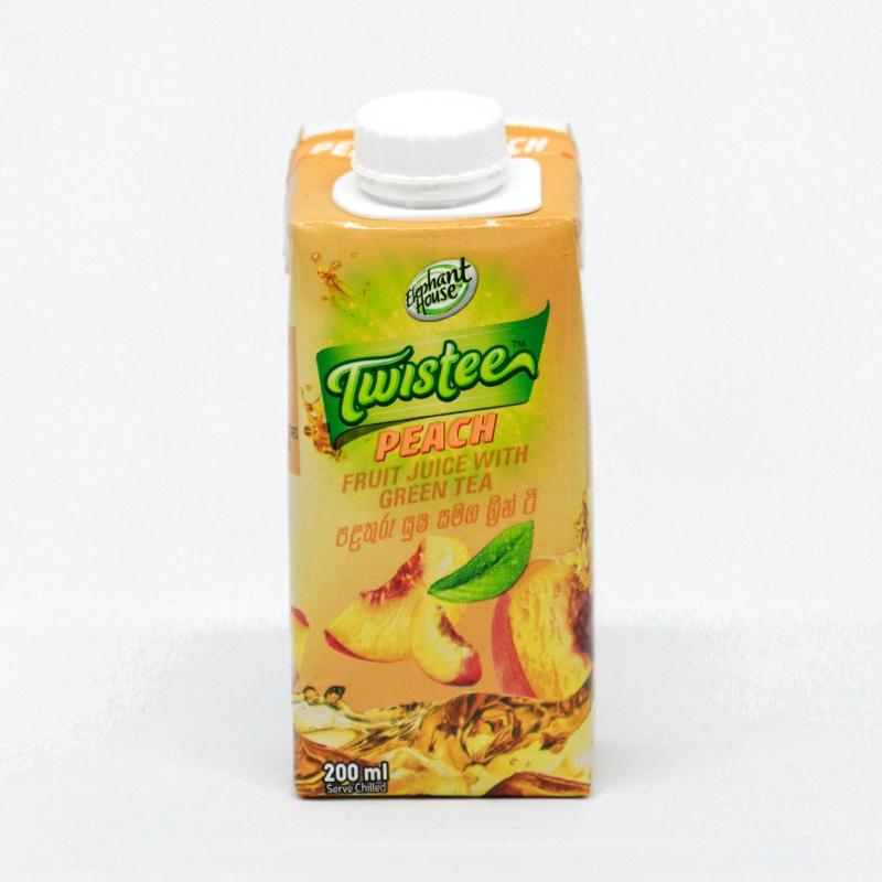 Elephant House Twistee Peach Fruit Juice With Green Tea 200ML - in Sri Lanka