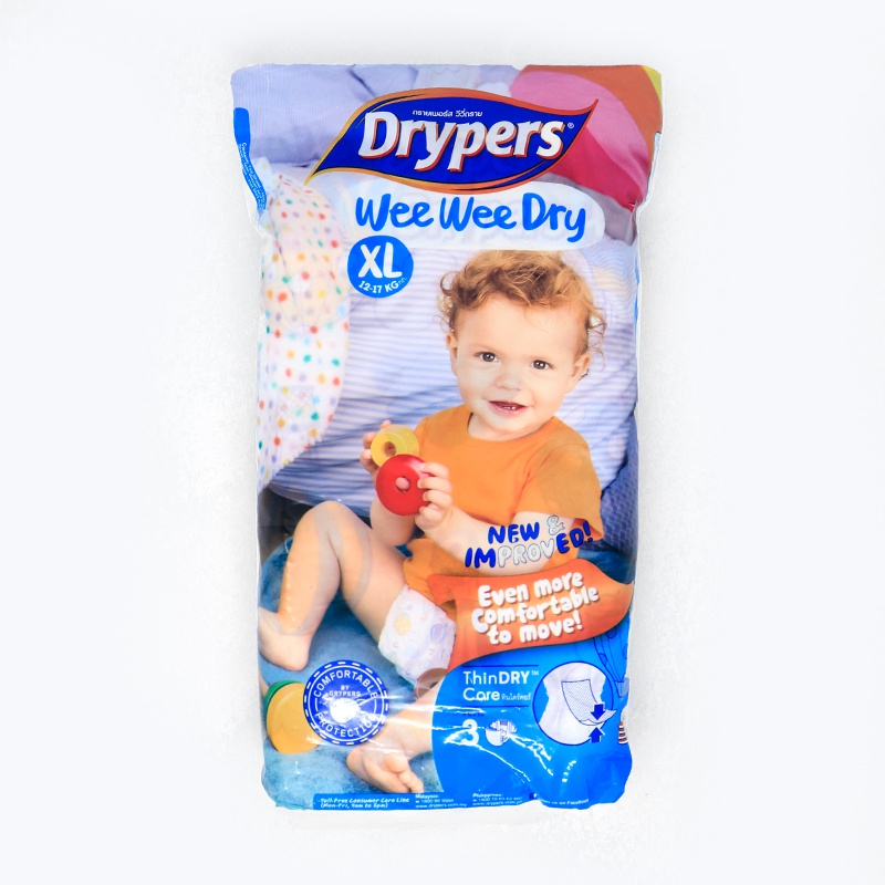 Drypers Wee Wee Dry Low Count Diaper Extra Large 3 Pcs - in Sri Lanka