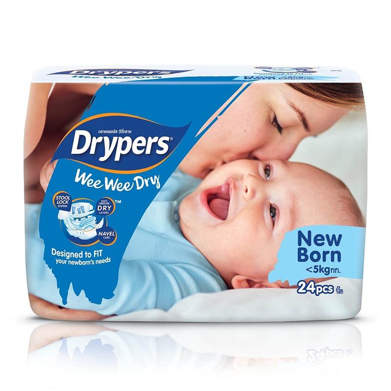 Drypers Wee Wee Dry Regular Diaper New Born 24 Pcs - in Sri Lanka