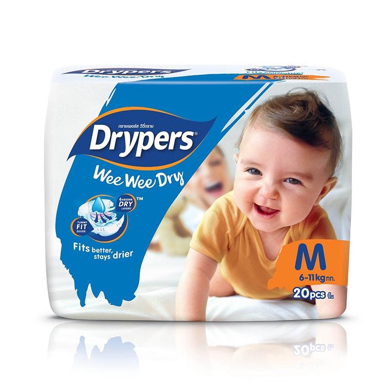 Drypers Wee Wee Dry Regular Diaper Medium 20 Pcs - in Sri Lanka