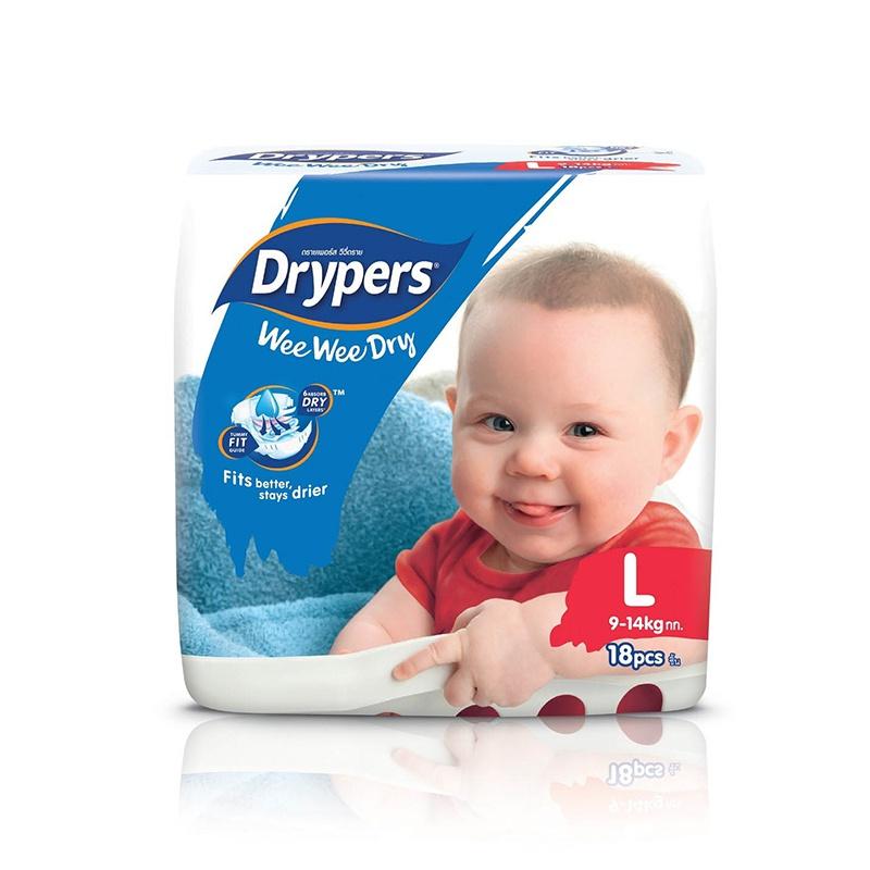 Drypers Wee Wee Dry Regular Diaper Large 18 Pcs - in Sri Lanka