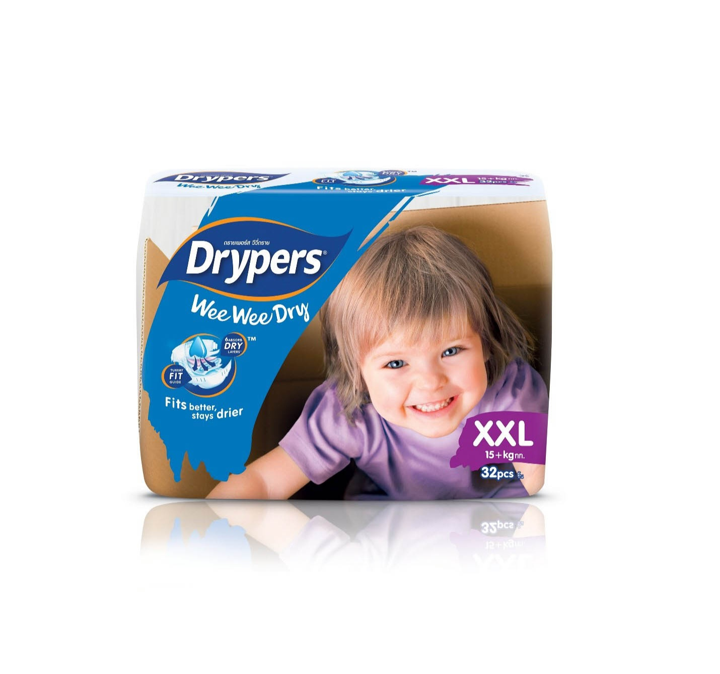 Drypers Wee Wee Dry Jumbo Extra Extra Large 32 Pcs - in Sri Lanka