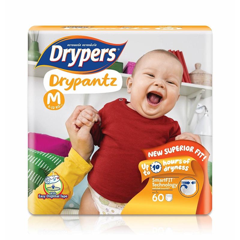 Drypers Dry Pants Mega Pack Medium 60 Pcs - in Sri Lanka