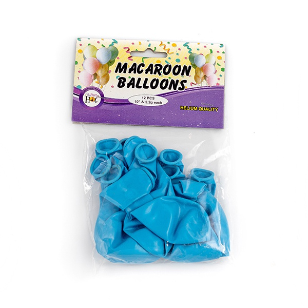 Ph Macaroon Balloons Blue 12 Pcs - in Sri Lanka