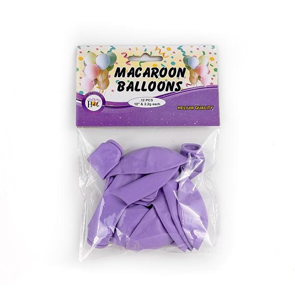 Ph Macaroon Baloons Purple 12 Pcs - in Sri Lanka