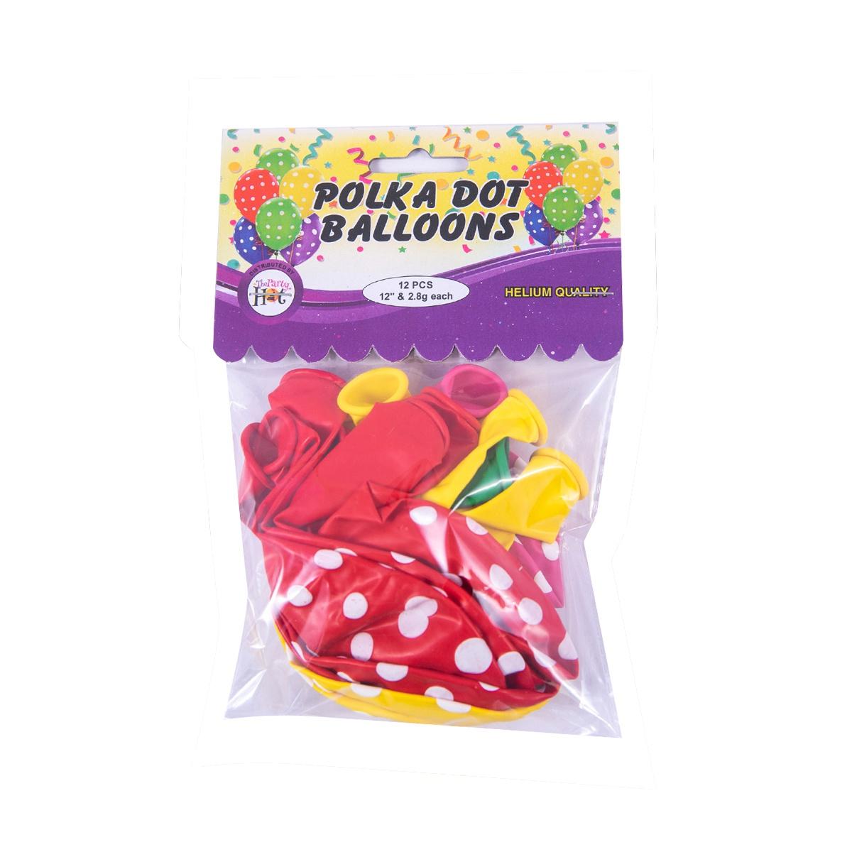 Ph Polka Dot Balloons 12 Pcs - in Sri Lanka