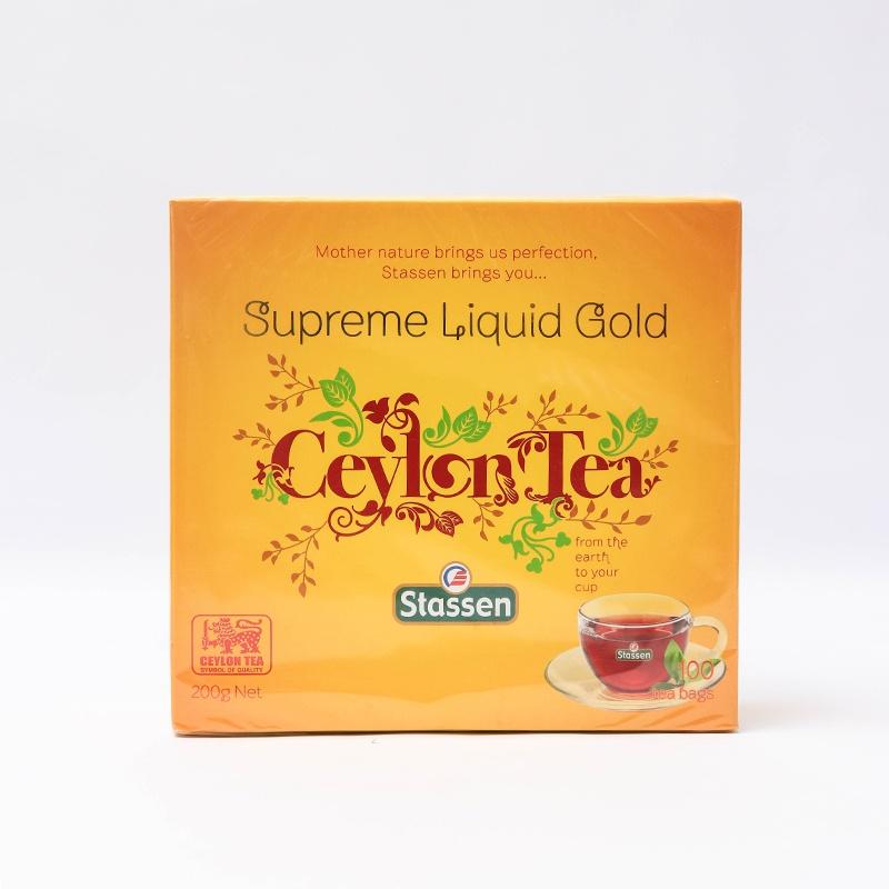 Stassen Sup.Gold Tea Bags 100s 200g - in Sri Lanka