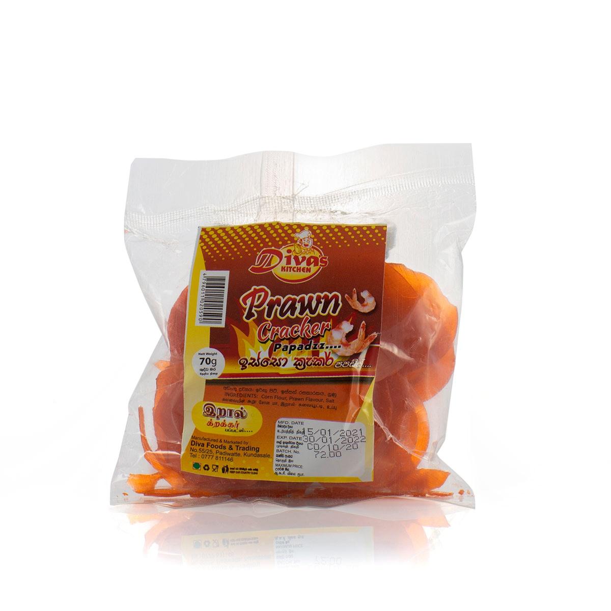 Diva's Kitchen Prawn Cracker 70g - in Sri Lanka