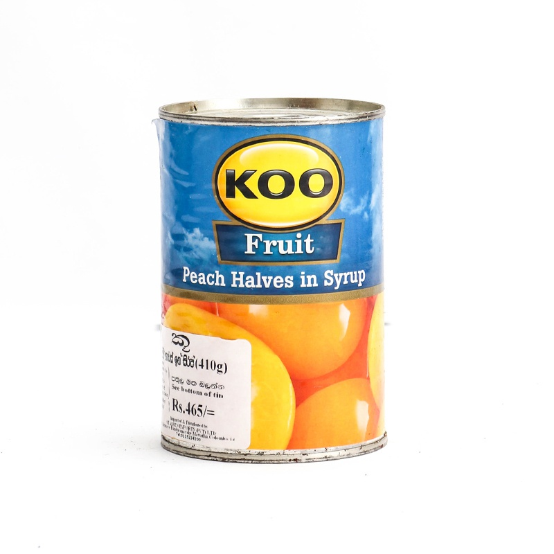 Koo Fruit Peach Halves In Syrup 410g - in Sri Lanka