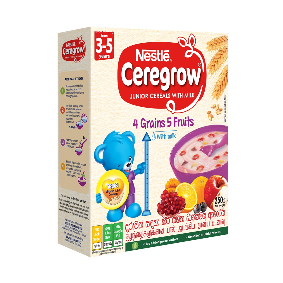 Nestle Ceregrow Cereals 3-5yrs 250g - in Sri Lanka