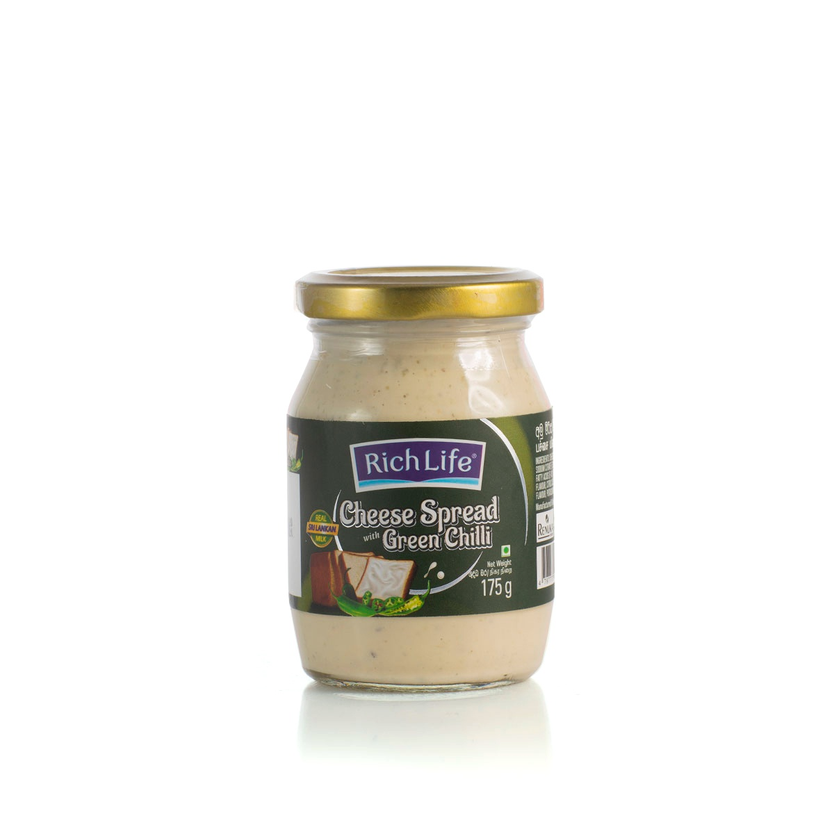 Richlife Spread Cheese Green Chili 175G - in Sri Lanka