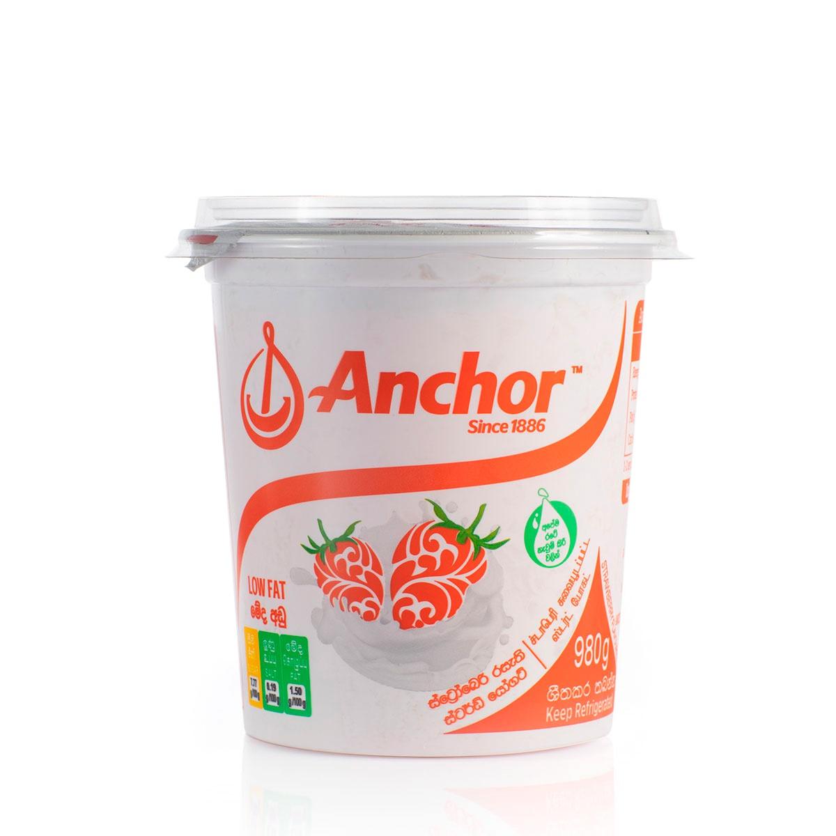 Anchor Yoghurt Stirred Strawberry Low Fat 980G - in Sri Lanka