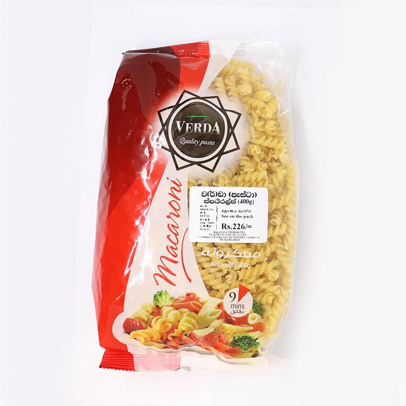 Verda Pasta Vite Spiral 400G - in Sri Lanka