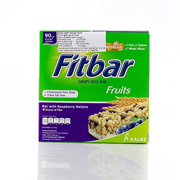 FITBAR WITH RASPBERRY RAISINS CEREAL BAR 120G - in Sri Lanka
