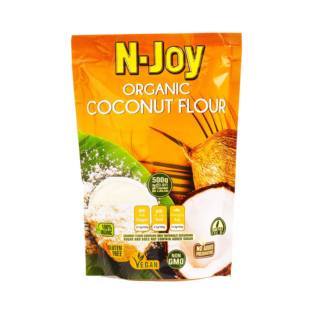 N Joy Organic Coconut Flour 500g - in Sri Lanka